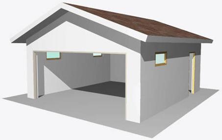Планировка гаража с комнатой